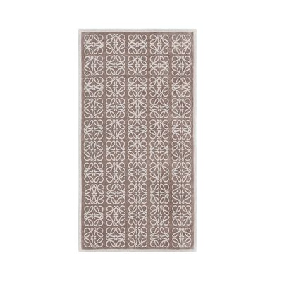 LOEWE Small Monograms Jacquard Towel Light Beige/Ivory front