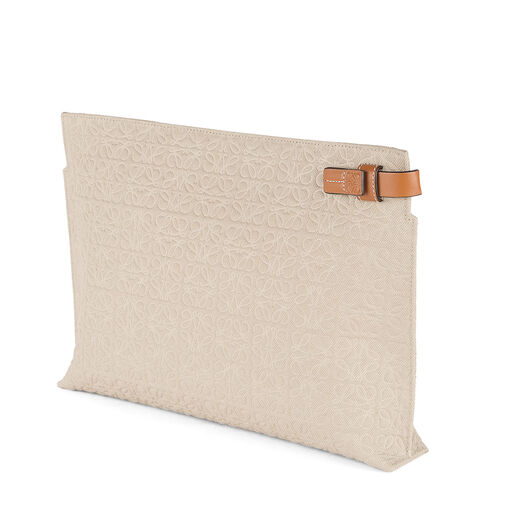 LOEWE T Pouch Natural/Tan all