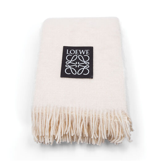 LOEWE Mohair Textured  Blanket Off-White all