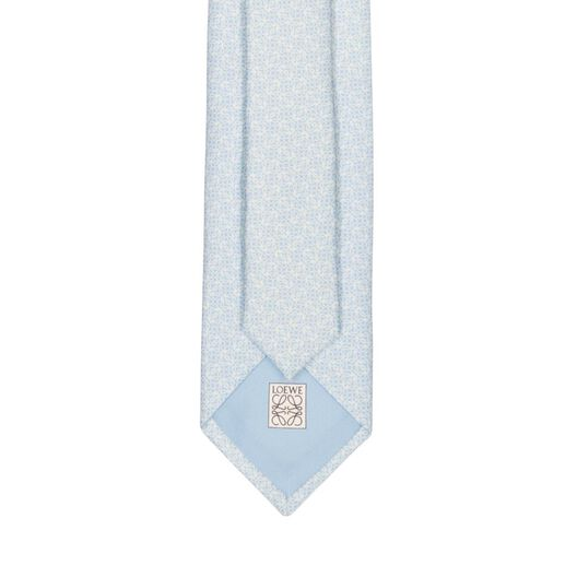 LOEWE 7Cm Bicolor Anagram Tie Light Blue all