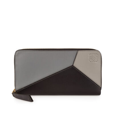 LOEWE Puzzle Zip Around Wallet Grey Multitone front