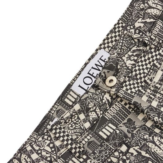 LOEWE Fisherman Medieval Jacquard Black/White all