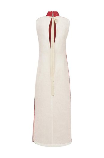 LOEWE Sequined Dress Red/White all