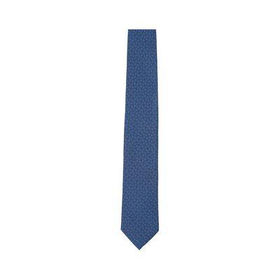 LOEWE 7Cm Bicolor Anagram Tie Navy Blue/Blue front