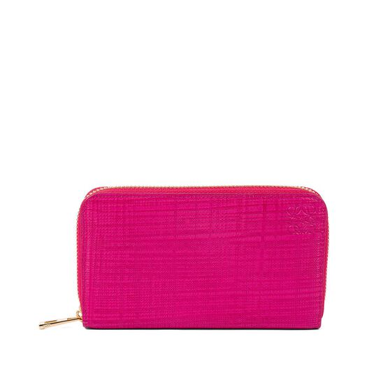 LOEWE Medium Zip Around Fuchsia all