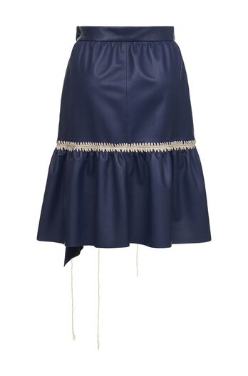 LOEWE Skirt Crochet Stitching Navy Blue all