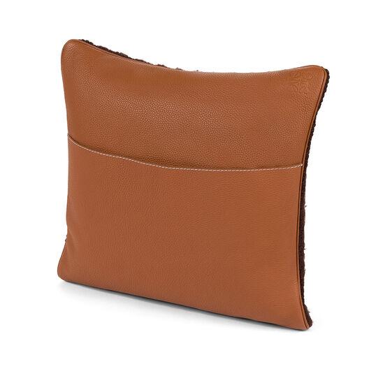 LOEWE Cojin Hand Knitted 1 40X40 Marron Oscuro/Blanco all