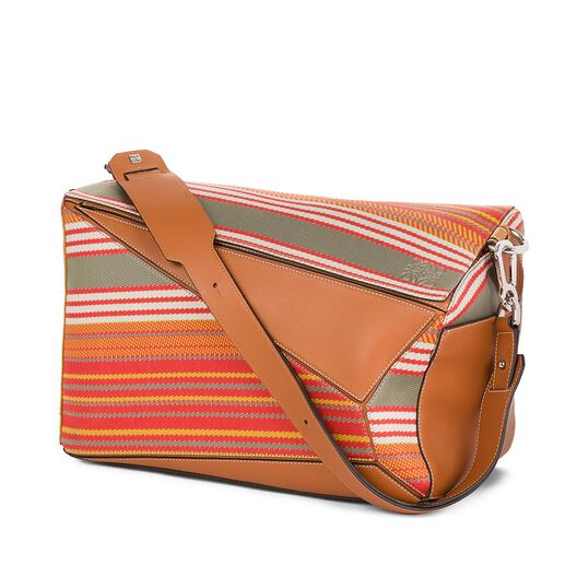 Puzzle Xl Stripes Print Bag