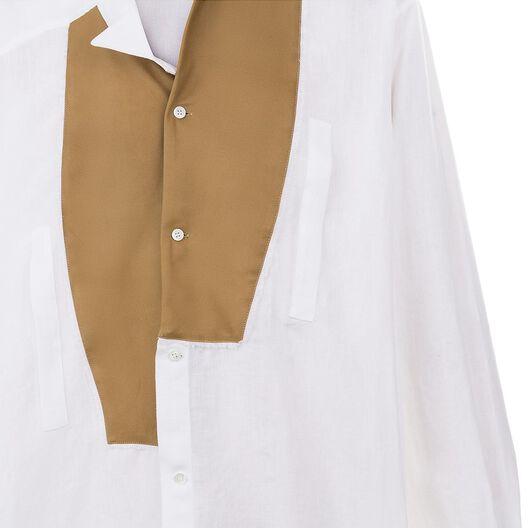 LOEWE Camisa Asimetrica Blanco Natural all