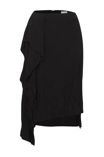 LOEWE Draped Skirt Black all