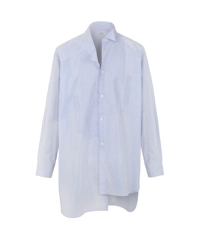 LOEWE Asymetric Shirt Light Blue/White front