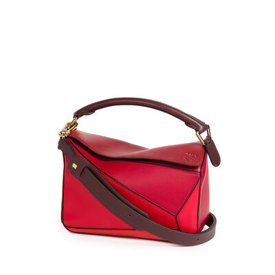 LOEWE Puzzle Small Bag Red Multitone front