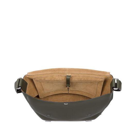 LOEWE Military Messenger Bag Khaki Green all