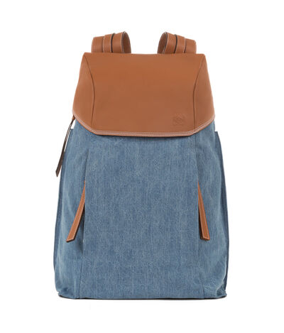 LOEWE T Backpack Dark Blue/Tan front