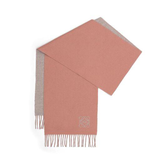LOEWE 30X180 Anagram Scarf Rose/Pearl Grey all