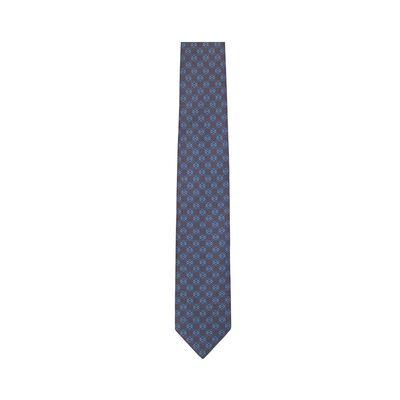 LOEWE 7Cm Dots Anagram Tie Navy Blue front