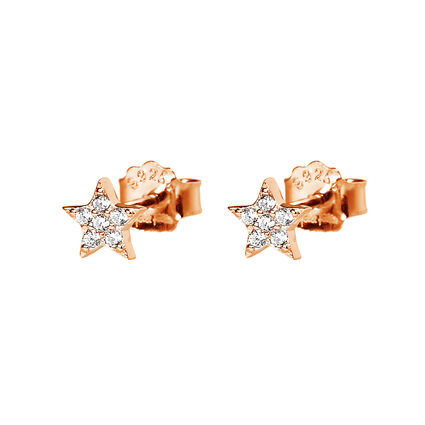 Fashionably Silver Stories Rose Gold Plated Earrings, , hires