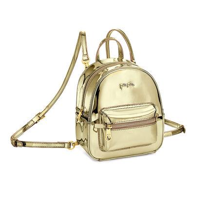 Metallic Love Mini Backpack Bag, Gold, hires