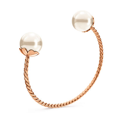 Pearl Muse Rose Gold Plated Cuff Bracelet, , hires