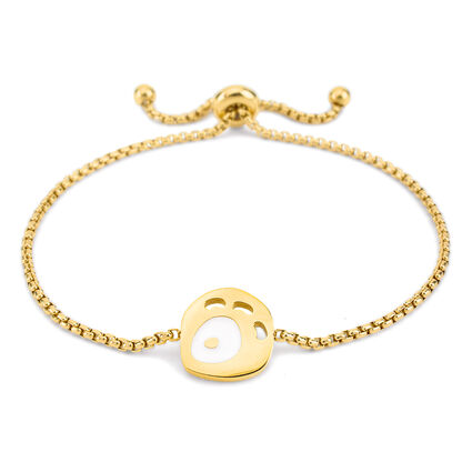 FF Talisman Yellow Gold Plated Adjustable Bracelet , , hires