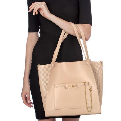 On The Go Large Shoulder Bag , Beige, hires