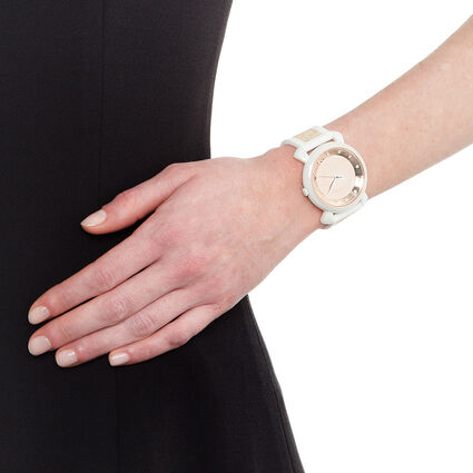 Glamwalk Watch, White, hires