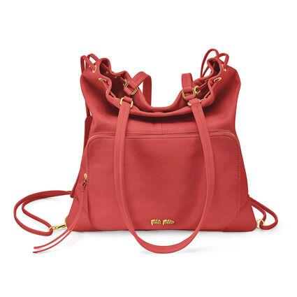 Inspire Multi-Wear Leather Shoulder Bag, Orange, hires