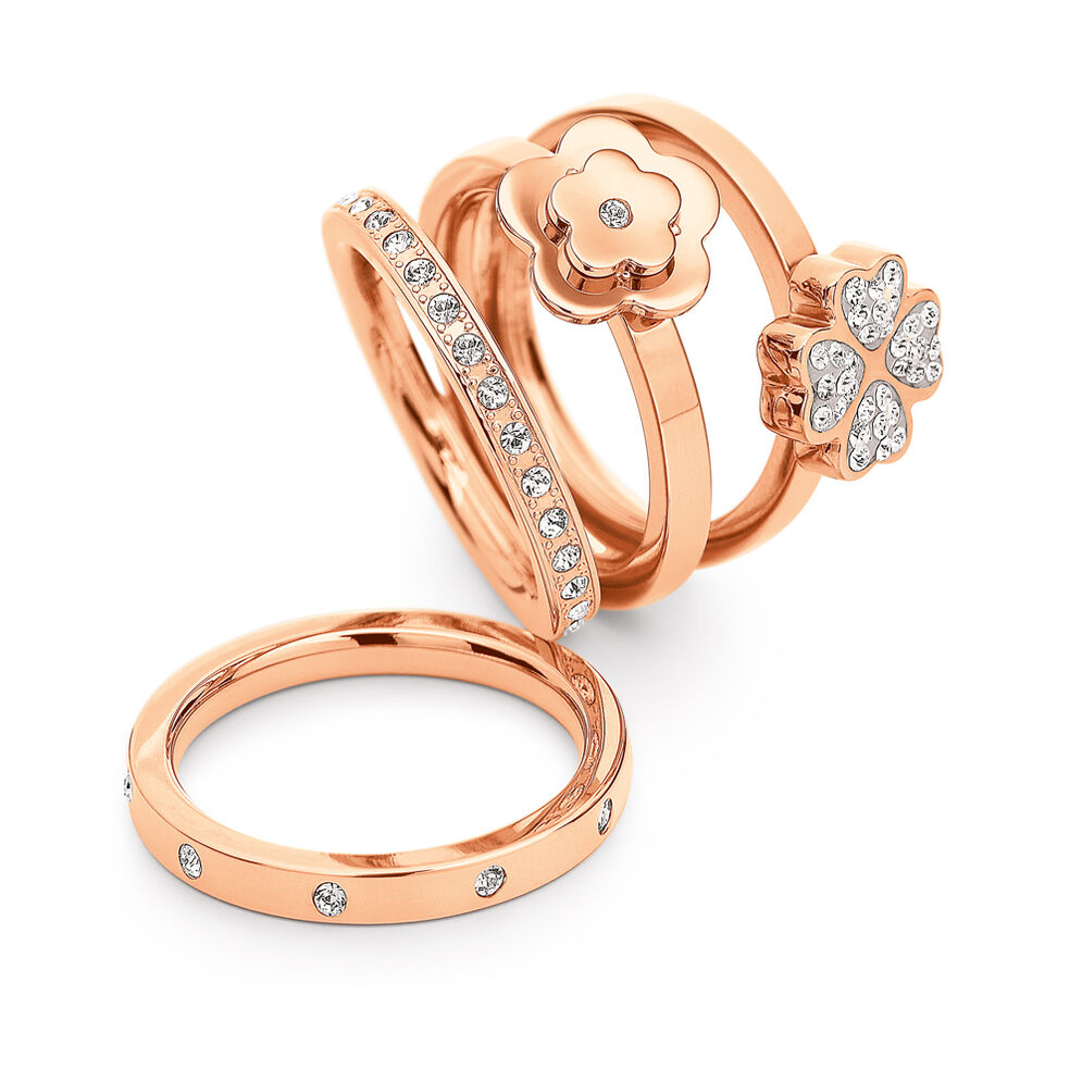 Bonding Rose Gold Plated Set Ring, , hires