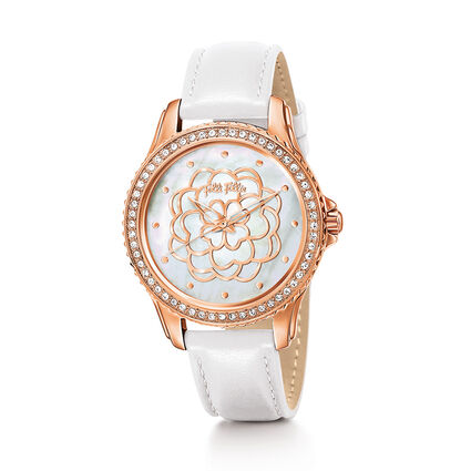 Santorini Flower Watch, White, hires