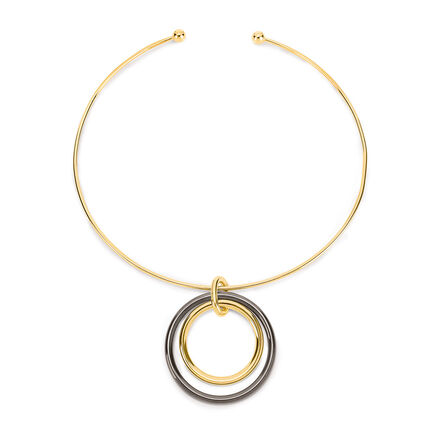 Metal Chic Yellow Gold Plated Choker Necklace, , hires