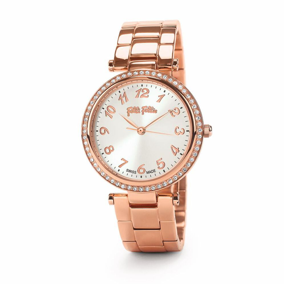 Classy Reflections Swiss Made Watch, Bracelet Rose Gold, hires