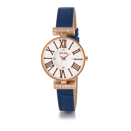 Dynasty Small Case Bracelet Watch, Blue, hires