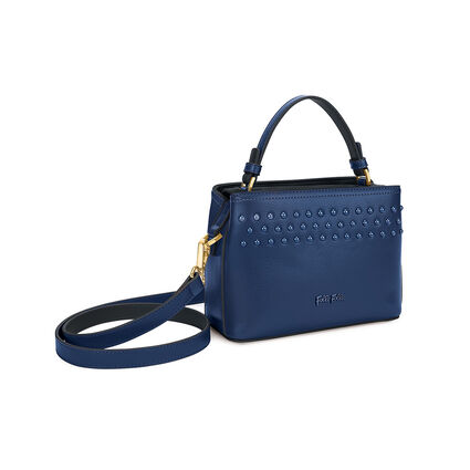 Studded Beauty Mini Tσάντα Xειρός με extra pouch, Blue, hires