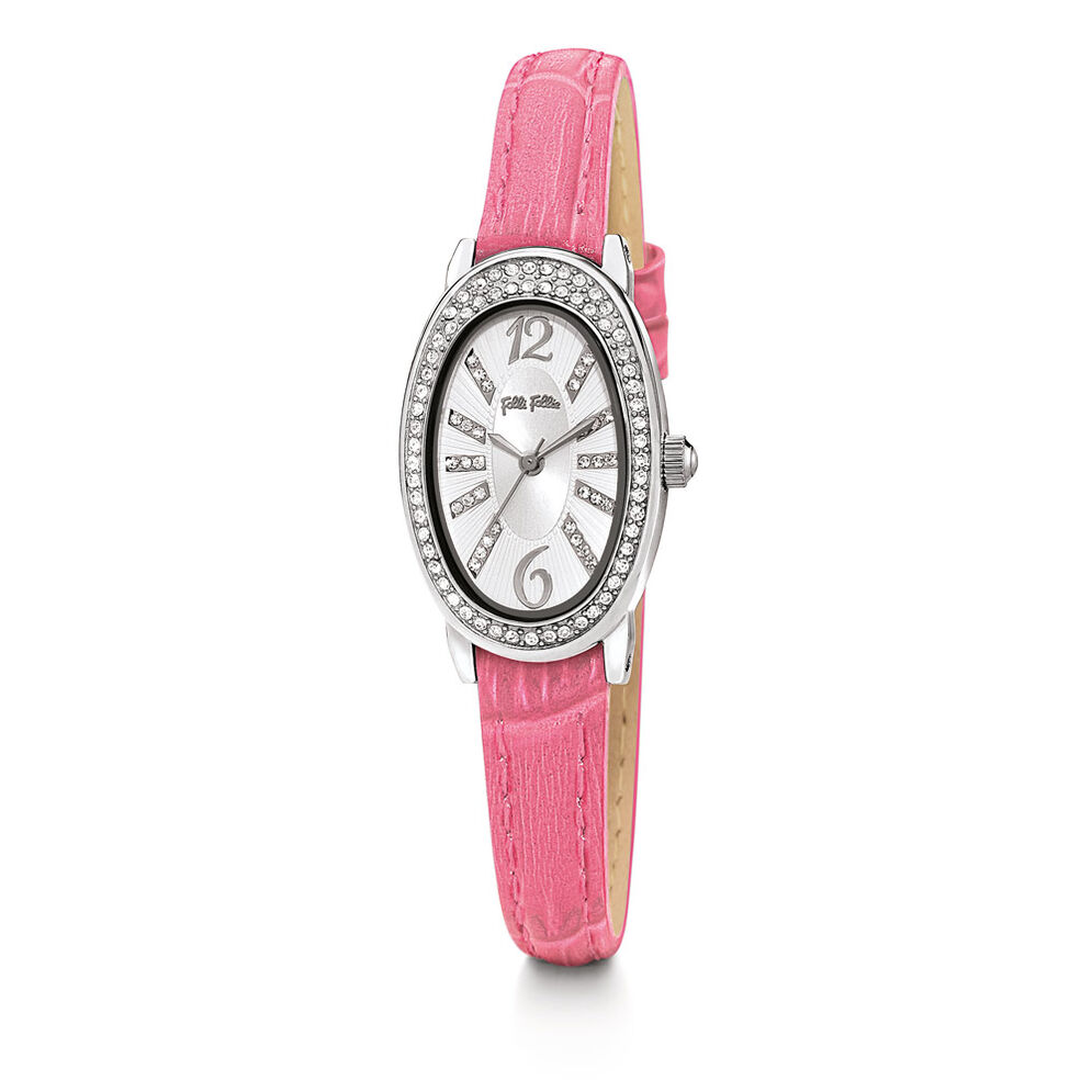 Mini Ivy Leather Watch, Fucshia, hires