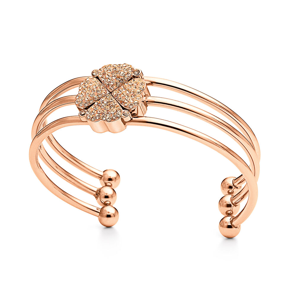 Heart4Heart Rose Gold Plated Σετ Σταθερό Βραχιόλι  , , hires