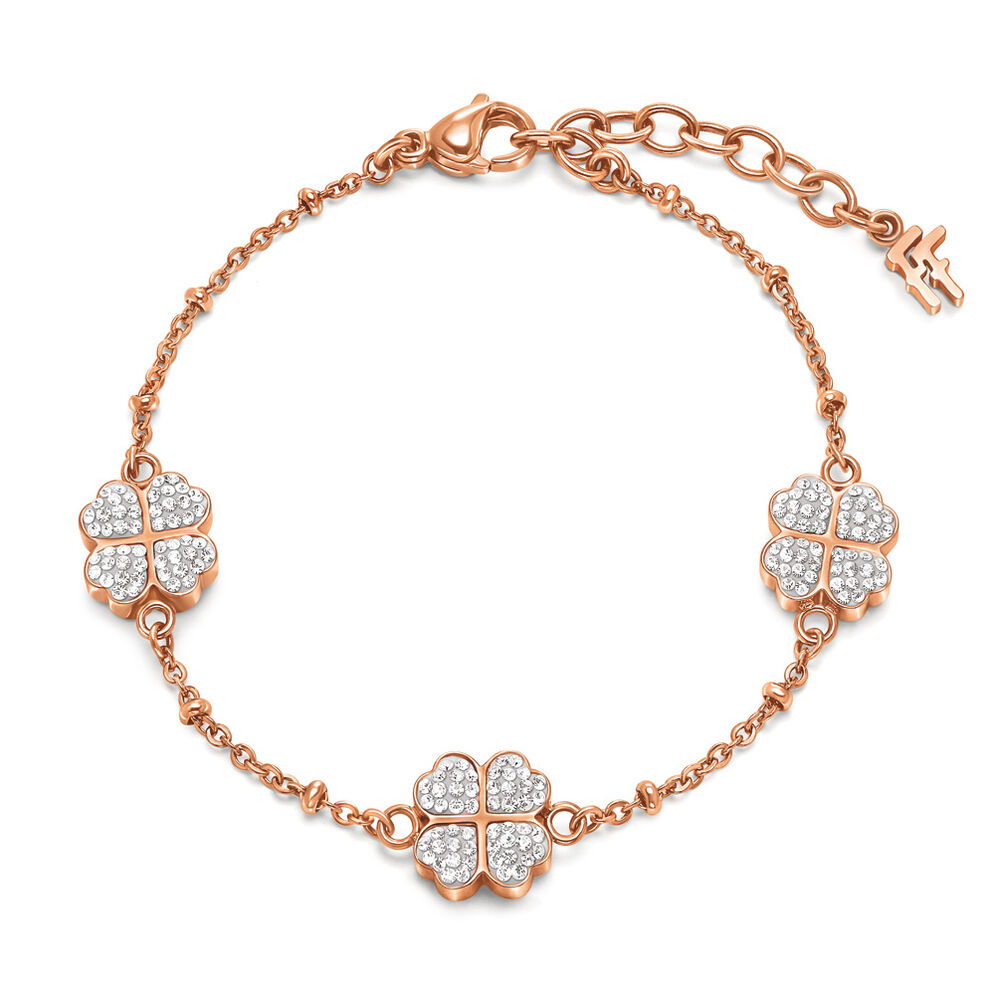Heart4Heart Rose Gold Plated Pave Κρυστάλλινες Πέτρες Βραχιόλι , , hires