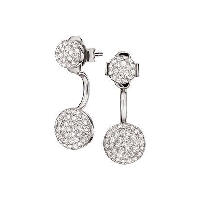 Fashionably Silver Essentials Rhodium Plated Κοντά Σκουλαρίκια, , hires