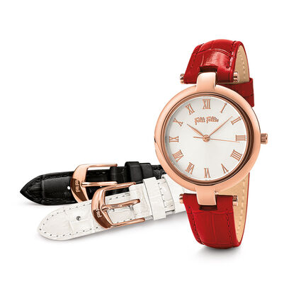 Classy Twist Watch, Red, hires