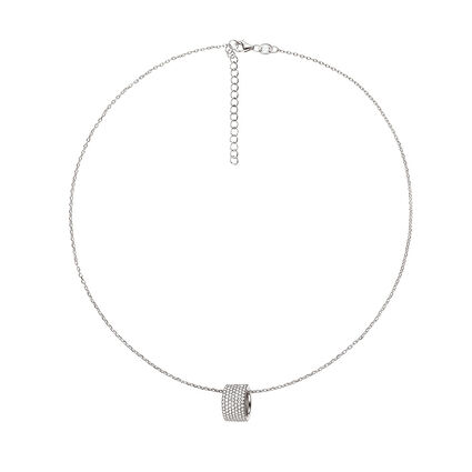 Fashionably Silver Essentials Rhodium Plated Short Necklace, , hires