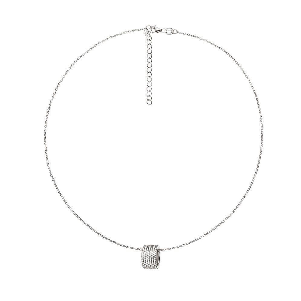 Fashionably Silver Essentials Rhodium Plated Κοντό Κολιέ , , hires