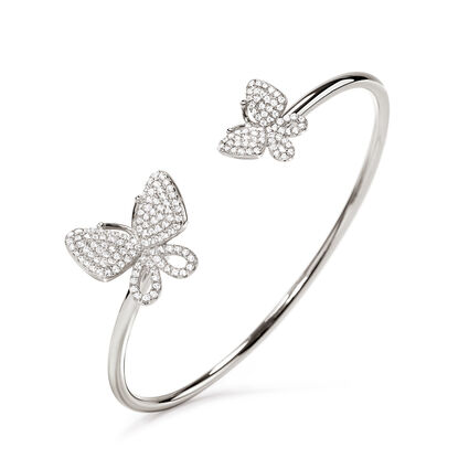Wonderfly Rhodium Plated  Cuff Bracelet, , hires