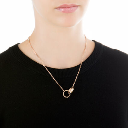 Love and Fortune Rose Gold Plated Κοντό Κολιέ, , hires