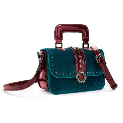 Rock Safari Mini Handbag, Blue, hires