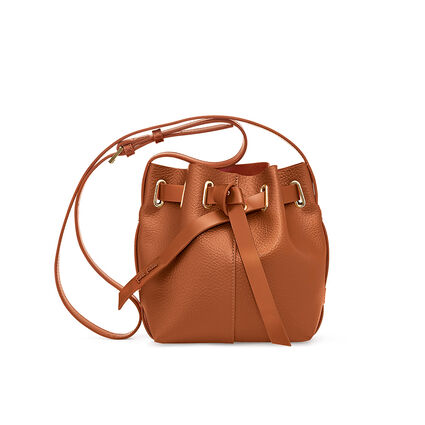 Mini Bolso de hombro Tie The Knot, Brown, hires