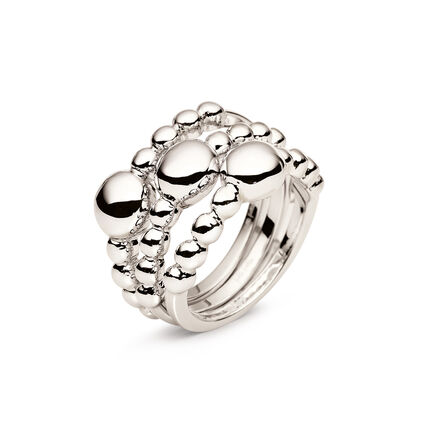 Carma Beads Silver Plated Set Ring, , hires
