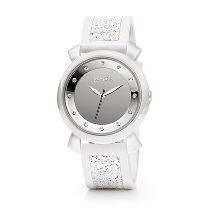 Glamwalk Μεγάλη Κάσα Rubber Watch, White, hires