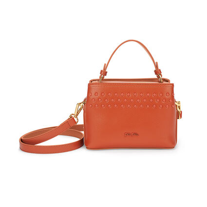 Studded Beauty Mini Tσάντα Xειρός με extra pouch, Orange, hires
