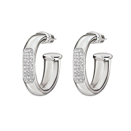 Awe Silver Plated Small Hoop Earrings, , hires