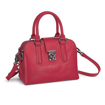 Heart4Heart Split Detachable Long Strap Leather Handbag, Red, hires