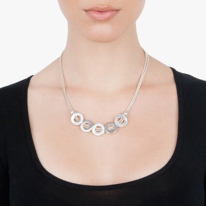 4F Silver Plated Long Necklace, , hires